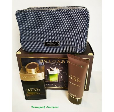 Bvlgari Man Wood Essence 100ml EDP Spray Travel Set