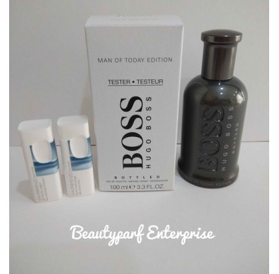 Hugo Boss Bottled Man Of Today Edition 100ml Tester Pack EDT Spray - Free Kenzo Pour Homme 15ml Shower Set