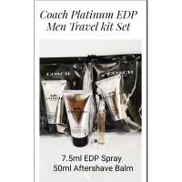 Coach New York Platinum For Men Travel Kit
