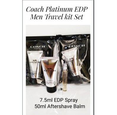 Coach New York Platinum For Men Travel Kit