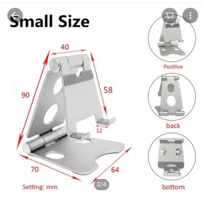 Mobile Phone / Ipad Foldable Aluminium Alloy Stand