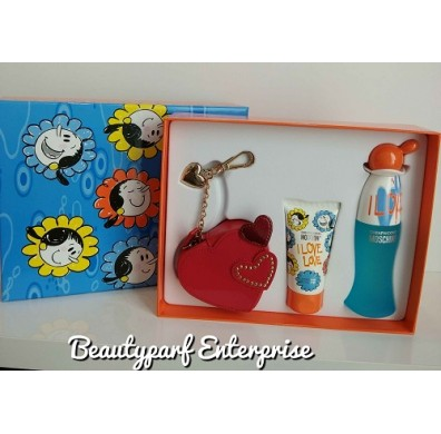 Moschino I Love Love 50ml EDT Spray Coffret Set