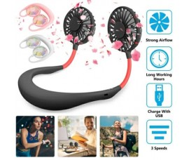 Neck Portable Fan USB Mini Rechargeable Air Cooler Sports Fan