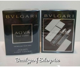 Bvlgari Aqva Pour Homme The Refillable Travel Spray - 3 X 15ml EDT Spray