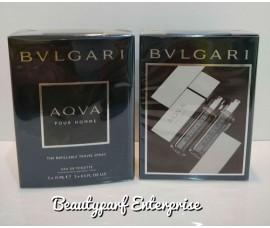 Bvlgari Aqva Pour Homme The Refillable Travel Spray - 3 X 15ml EDT Spray