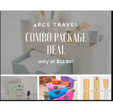 Travel Essential 4pcs Bundle Package Deal - Hot Seller!