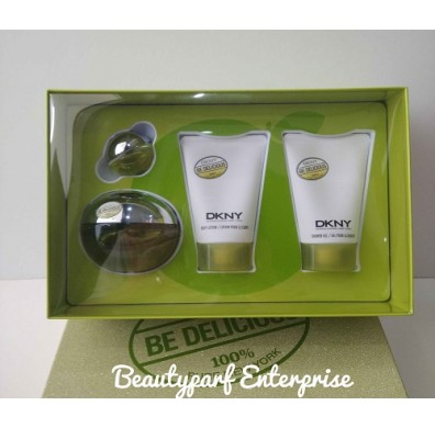 DKNY Be Delicious 100ml EDP Spray Coffret Set