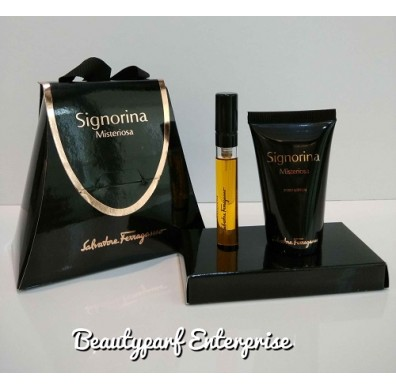 Salvatore Ferragamo - Signorina Misteriosa Travel Set 5ml EDP Spray + 30ml Body Lotion