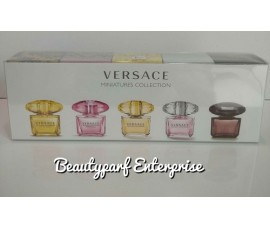 Versace Women 5pcs Miniature Set 5ml Non Spray