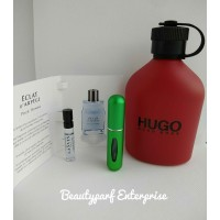 Hugo Boss Red Men In 5ml Refillable Spray + Free Lanvin Eclat Men 2ml EDT Spray - HOT BUY!