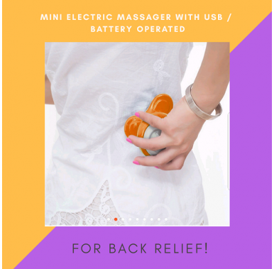 Mini USB/Battery Powered Electric Wave Vibrating Arm Leg Full Body Massager