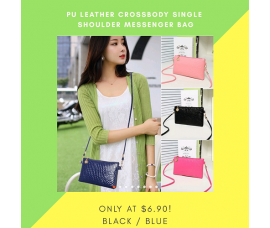 Mini PU Leather Crossbody Single Shoulder Messenger Bags For Women