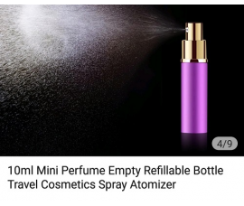 Perfume Refillable Bottle 10ml Spray - Up To 100 Sprays + Perfume Refill Tools