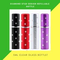 Perfume Refillable Bottle Spray 5ml  With Diamond Stud Design