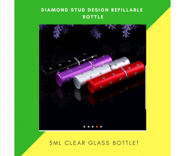Perfume Refillable Bottle Spray 5ml  With Diamond Stud Design