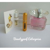 Versace Bright Crystal Women In 5ml EDT Refillable Spray + Free MJ Honey 1.2ml EDP Spray - HOT BUY!