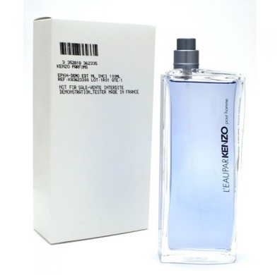 Kenzo L'eau Par Pour Homme 100ml EDT Spray Tester Pack Without Cap