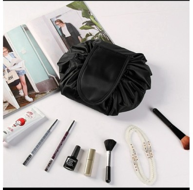 Travel Makeup Lazy Cosmetic Drawstring Pouch With Free Versace Eros Vial
