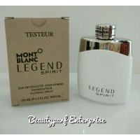 Mont Blanc - Legend Spirit 100ml EDT Spray Tester Pack With Free Versace Vial Package