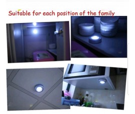 LED Lamp 3 LEDs Touch Lamp Ceiling Wall/Cabinet Light Mini LED Night Light