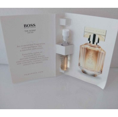 Long Wallet Felt Like Fabric Fold Over Purse With Free Hugo Boss The Scent Ladies 1.5ml Non Spray Perfume Vial