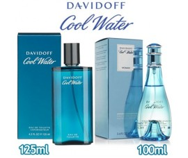Davidoff - Cool Water Men 125ml EDT Spray / Cool Water Women 100ml