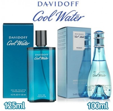 Davidoff - Cool Water Men 125ml EDT Spray / Cool Water Women 100ml - Hot Deal!