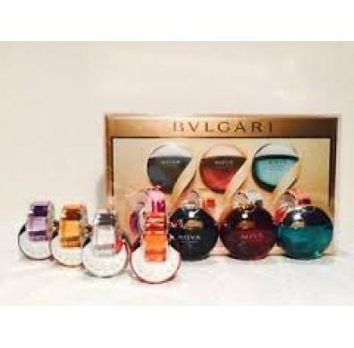 Bvlgari Omnia & Aqva Iconic 7pcs Miniature Collection Set
