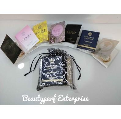 Versace 7pcs Women Vial Collection Set + Organza Pouch